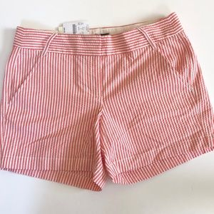 J Crew pink seersucker new shorts city fit size 4